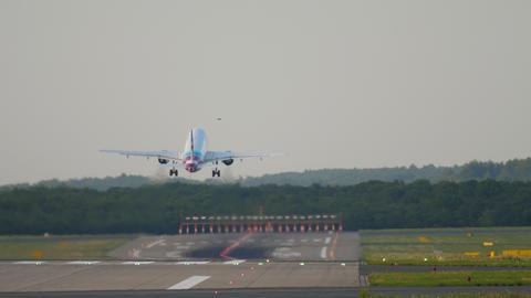 Jet Airplane departure Footage