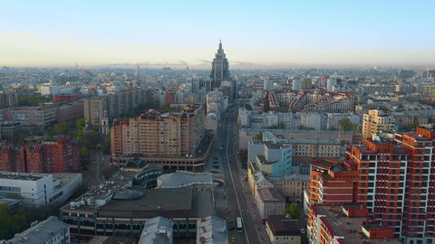 Moscow aerial scene in the morning, Russia Archivo