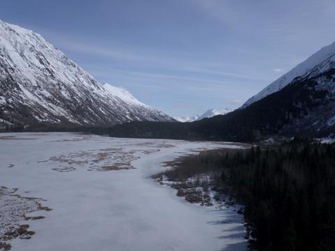 Frozen lake in Alaska Photo