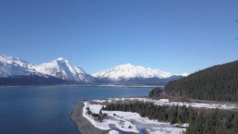 Beautiful views of winter sunshine Live Action