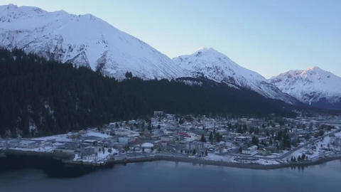 Winter time in Seward Alaska Live Action