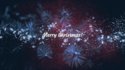 Merry Christmas and Happy New Years Wishes Title Screen Animation