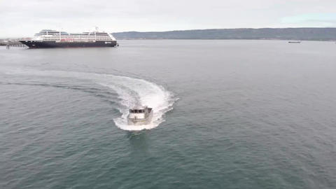 Brand new commercial fishing boat for Bristol Bay salmon in Alaska Live Action
