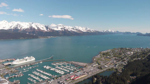 Scenic port of Seward Alaska Live Action