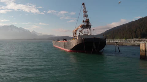 Barge in Alaska Footage