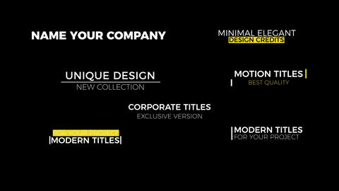 Design Corporate Titles Motion Graphics Template