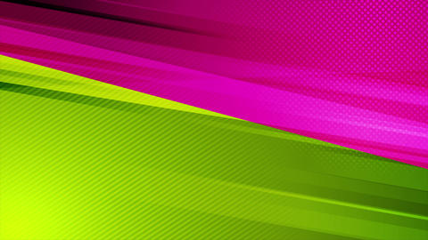 Colorful green and purple contrast abstract video animation Animation