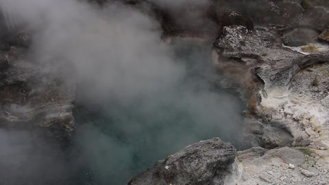 Natural hot water pool boiling water and steam rotorua Live Action