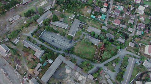 aerial view of the urban landscape. Sukhumi, Abkhazia Live Action