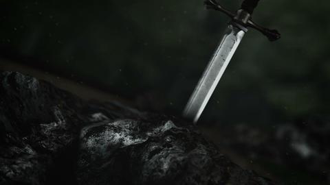 The Legendary Excalibur Inside a Rock Live Action