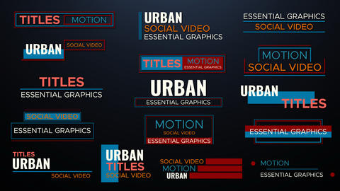 Titles And Lower Threads Motion Graphics Template