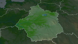 Centre-Val de Loire - region of France. Physical Animation