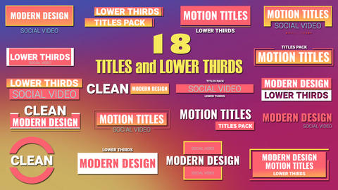 Modern Title Pack After Effects Template