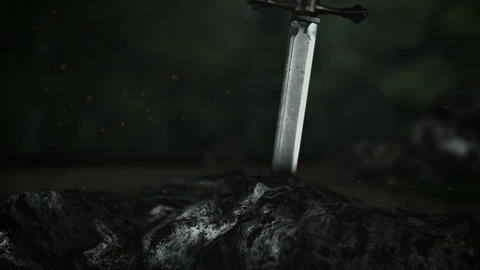 An Epic Two Handed Sword Inside a Rock Live Action