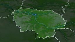 Ile-de-France - region of France. Physical Animation