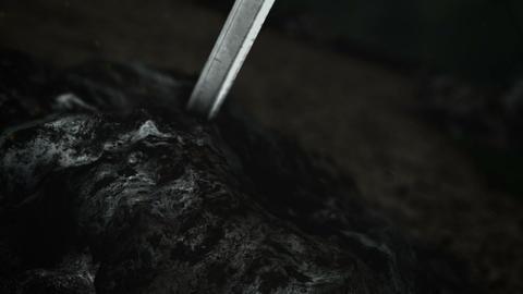 An Epic Warrior Sword Inside a Rock Live Action