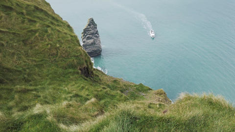 The Cliffs of Moher. Epic Irish Landscape Seascape along the wild atlantic way Live Action