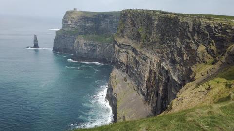 The Cliffs of Moher. Epic Irish Landscape Seascape along the wild atlantic way Live Action