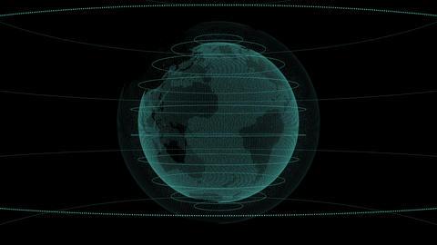 テクノロジーのイメージデジタル地球儀 CG動画