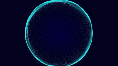 波を打つ地球儀 CG動画