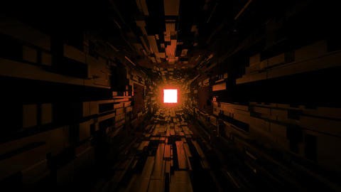 black scifi space tunnel background wallpaper with nice glow 3d rendering vjloop Footage