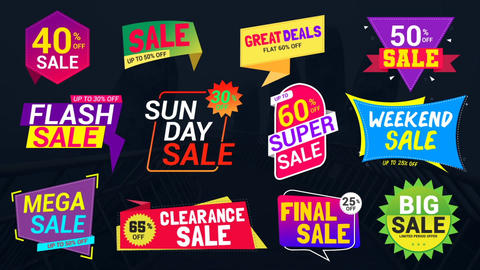 Sale Lables & Badges 4 After Effects Template
