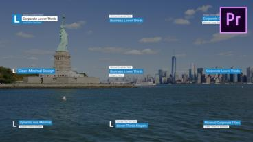 Corporate Lower Thirds Motion Graphics Template