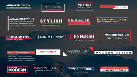 20 Animated Titles III Motion Graphics Template