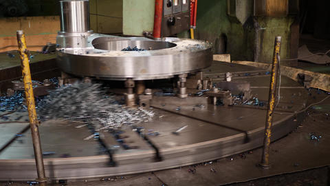 CNC Machine of High Precision Machining Metal at Factory Live Action