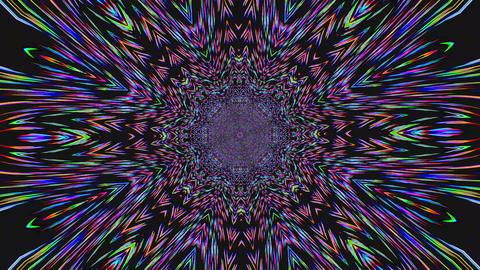 Magical distorted light leak kaleidoscope iridescent background Footage
