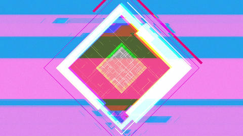 Square noise background(blue) CG動画