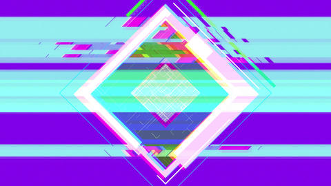 Square noise background(purple) CG動画