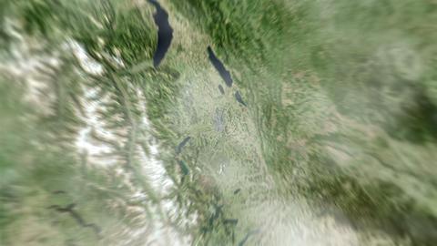 4K Earth Zoom: Bern – Switzerland Animation