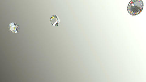 Gemstones scatter and fly away over gradient background with Alpha Animation