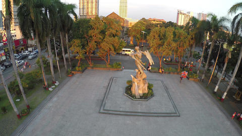 Aerial view of Rajah Sulayman Park Footage