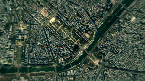 4K Earth Zoom: Paris – France Animation