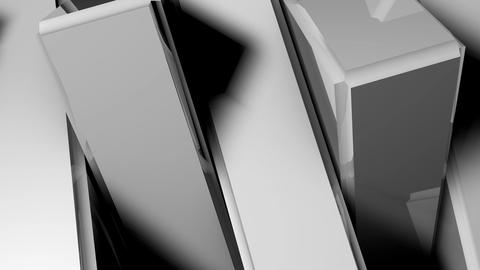 Abstract background of rotation steel boxes Animation