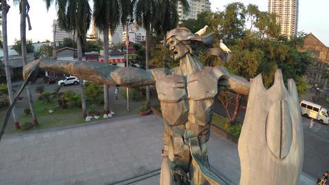 Rajah Sulayman Statue in Manila Footage