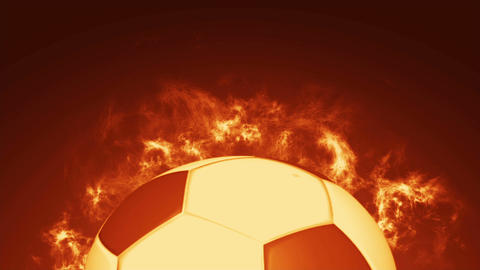 Soccer ball on fire Animation
