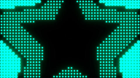 concentric stars over a simulated led background Stock Video Footage