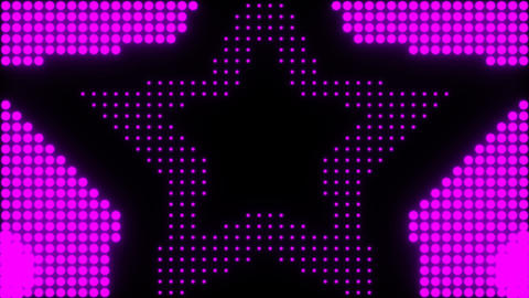 concentric stars over a simulated led background Animation