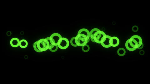 Abstract background with glow circles Animation