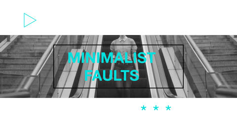 Minimalist Faults After Effects Template