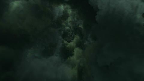 Fly Through Dark Clouds Animation