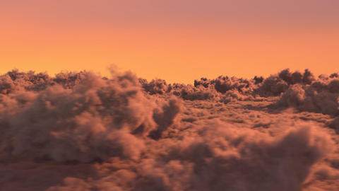 Above The Sunset Clouds Animation
