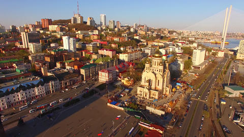Aerial view of the urban landscape Footage