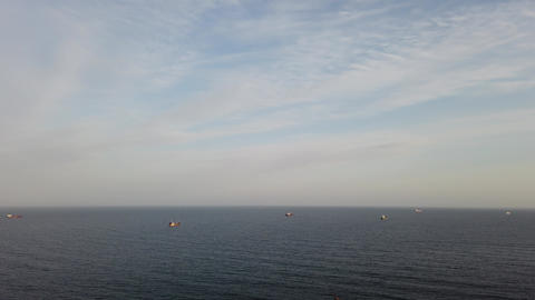Seascape with ships. Quiet Bay, Vladivostok Live Action
