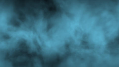 Fog Smoke BlueGreen Full screen Side wind Loop Animation