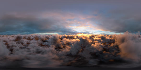 Sunset Clouds Panoramic 360 VR VR 360° Video