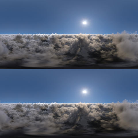 Clouds Stereoscopic Panoramic 360 VR VR 360° Video